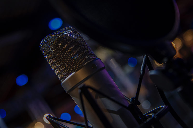 Microphone from the foley barn sound studio